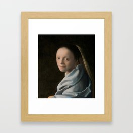 Study of a Young Woman by Johannes Vermeer Framed Art Print