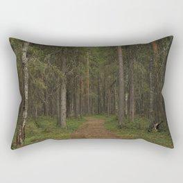 Path in taiga forest Rectangular Pillow