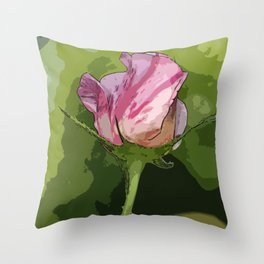 One Candy Cane Throw Pillow