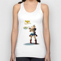 popeye Tank Tops featuring Popeye the Sailor Moon by bluthan