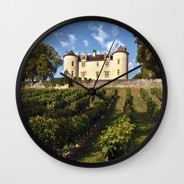Medieval Castle in South West France Wall Clock