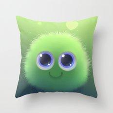 Fluffy Chu Throw Pillow