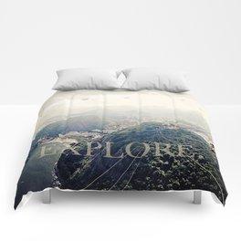 explore. Comforters