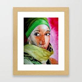 african Eyes Framed Art Print