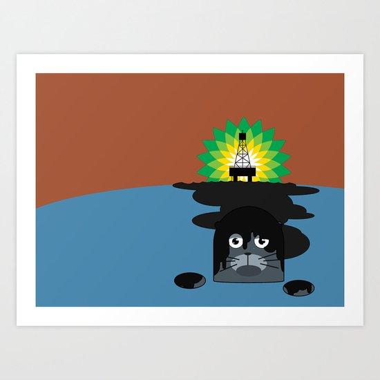 BP Oil Attack Art Print