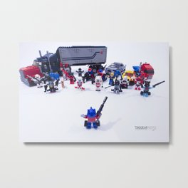 AUTOBOTS, TRANSFORM & ROLL OUT! Metal Print