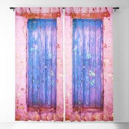 Blue Door Blackout Curtain