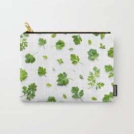 Herbs on White - Landscape Carry-All Pouch