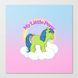 g1 my little pony year 3 Tootsie Canvas Print