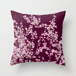 willow catkin III Throw Pillow