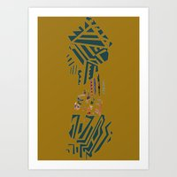 african Art Prints featuring african by Kende