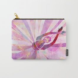 Sleeping Ballerina Floral Carry-All Pouch