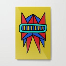 Robot Head #0002 Metal Print