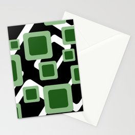Green Grey Vintage rectangles pattern Geometry #society6 Stationery Cards