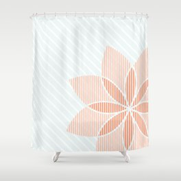 Floral Stripes Shower Curtain
