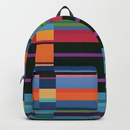 Colorful Lines And Retangles Geometric Abstract Art Digitalart Gift Backpack