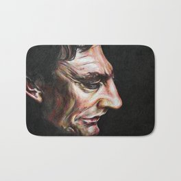 Portrait of Johnny Cash in Colored Pencil Bath Mat