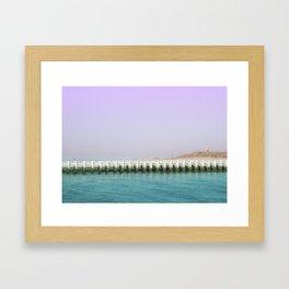 North Sea Pier Framed Art Print