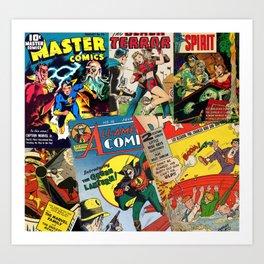 Comics Collage Art Print