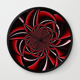 black and red abstract Wall Clock