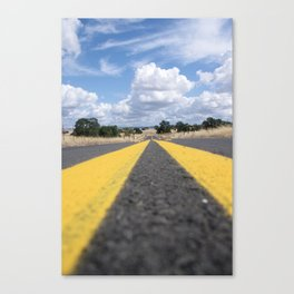 the long road ahead Canvas Print