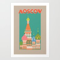 moscow Art Prints featuring Moscow by Chay Lazaro