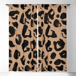 Leopard Print Black and Brown Pattern Blackout Curtain