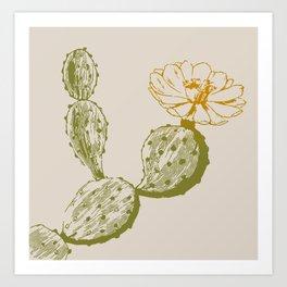 flower del desierto Art Print