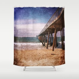 California Pacific Ocean Pier Shower Curtain