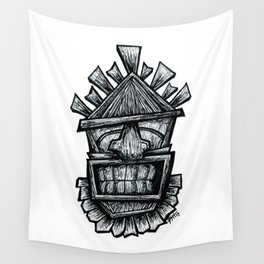 Happy Tiki Wall Tapestry