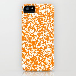 Small Spots - White and Orange iPhone Case