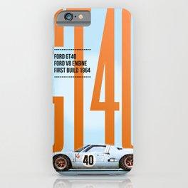 GT40 Gulf Tribute iPhone Case