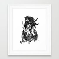 woman Framed Art Prints featuring Chicana by Rudy Faber