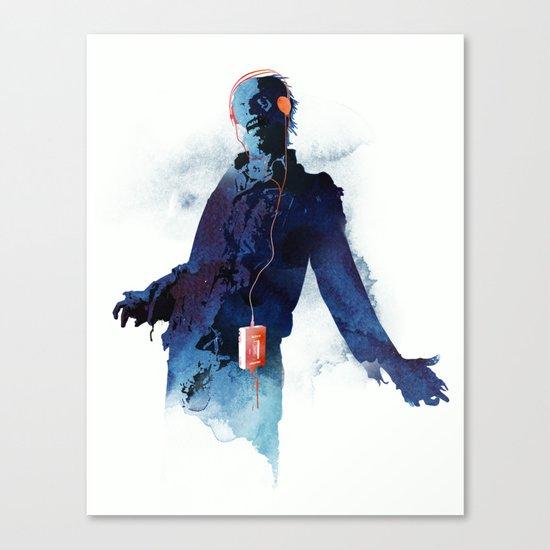 The Walkman Dead Canvas Print