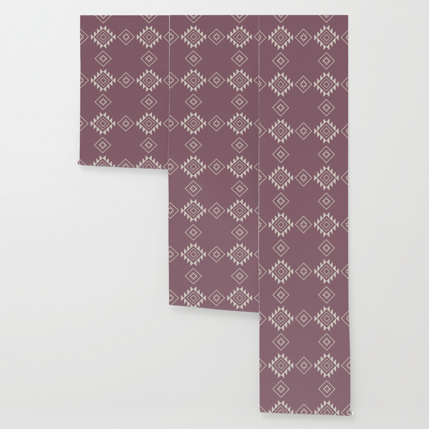 Aztec Print In Rose Wallpaper
