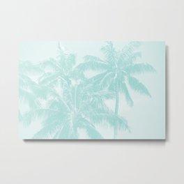 Palm Trees Cyan Kihei Maui Hawaii Metal Print