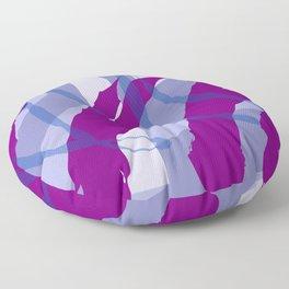 Purple Streaks & Blocks Abstract Art Floor Pillow
