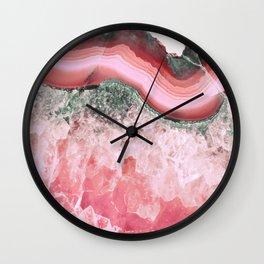 Sweet Coral Agate Wall Clock