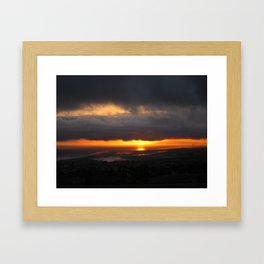 Behind the Clouds Framed Art Print