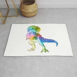 T-Rex | Rainbow Series | Pop Art Rug