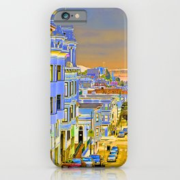 City By the Sea at Sunset iPhone Case
