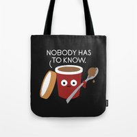 yetiland Tote Bags featuring Cold Comfort by David Olenick