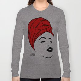 Lady Wrap (red) Long Sleeve T-shirt