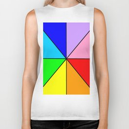 Optical pattern 8 multicolor or rainbow Biker Tank