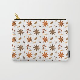 Winter brown orange berries floral illustration Carry-All Pouch