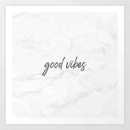 Good Vibes Marble Art Print