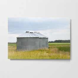 Grain Bins 1 Metal Print