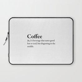 Coffee Definition Laptop Sleeve