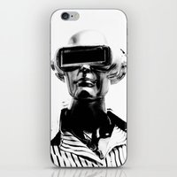 spaceman iPhone & iPod Skins featuring Spaceman by Goga