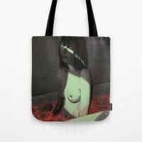 nightmare Tote Bags featuring Nightmare by Josan Gonzalez